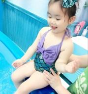 Girls bikini princess skirt swimsuit