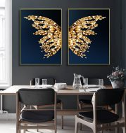Golden butterfly wings decorative painting