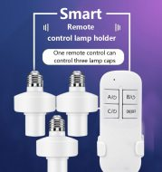 Remote control lamp holder with large screw mouth