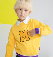 Boys' sweater with crew neck letters