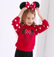 Printed Polka Dot Girls Sweatshirt