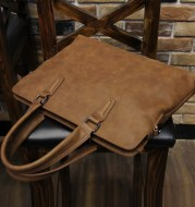 Crazy Horse Leather Men's Handbag