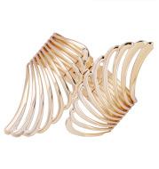 Feather metal texture bracelet