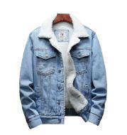 Men's winter denim cotton jacket