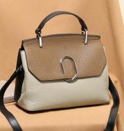 Suede leather shoulder bag