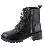 Ladies Vintage Combat Autumn Boots