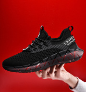 Mesh running shoes flying woven casual shoes