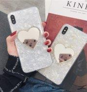 Gold foil love mirror phone case