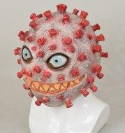 Halloween virus latex headgear