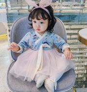 Children's ethnic print dress