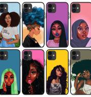 Black girl phone case