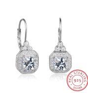 s925 sterling silver rhinestone earrings