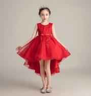 Girls tail dress skirt fluffy yarn children