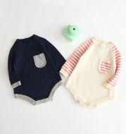 Baby long-sleeved knitted jumpsuit