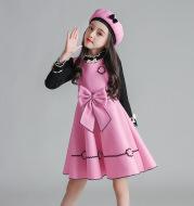 Children's vest and woolen skirt