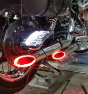Motorcycle modified exhaust lamp