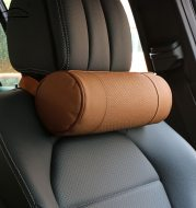 Leather cylindrical car seat pillow