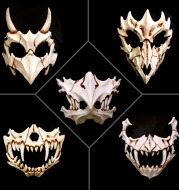 Party dragon god face jewelry