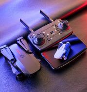 Folding high-definition aerial quadcopter