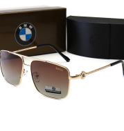 Cross-border special for hot new men's metal polarized sunglasses car brand square driving sports sunglasses