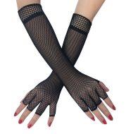Half finger fishing net glove length