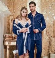 Ladies lace suspender nightgown couple pajamas