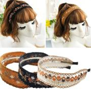 Embroidered lace headband
