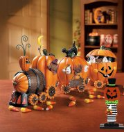 Halloween Pumpkin Man Witch Home Table Decoration