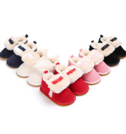 Warm low-cut beef tendon sole non-slip shoes