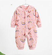 Baby combed cotton jumpsuit