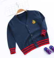 Children's embroidery knitted sweater