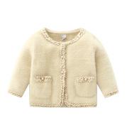 Little fragrance long-sleeved knitted cardigan