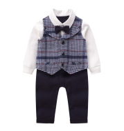 Baby vest striped gentleman romper
