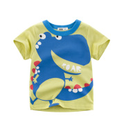 Children's top cartoon T-shirt with round neck and short sleeve