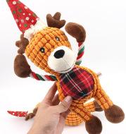 Christmas deer pet plush sounding toy