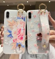Wristband flower phone case