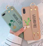 Wristband holder phone case