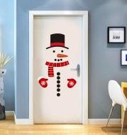 Snowman refrigerator sticker