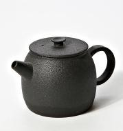 Stoneware teapot black pottery ceramic single pot