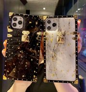 Marbled Gold Foil Epoxy Phone Case