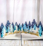 Paper sculpture Christmas card