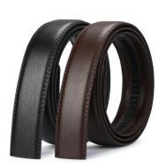 Without head belt men's leather automatic buckle belt