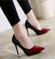 High heels stiletto single shoes gradient color