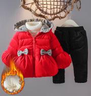 Winter children's suit with hood