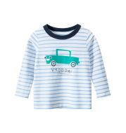 Children's long-sleeved T-shirt striped bottoming shirt