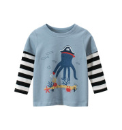 Two fake long-sleeved T-shirts for children