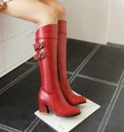 Martin thick heel platform rider boots