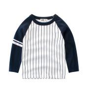Long-sleeved colorblock kids T-shirt