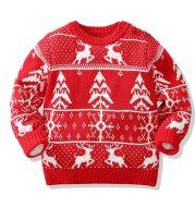 Molu snowflake double jacquard sweater for children