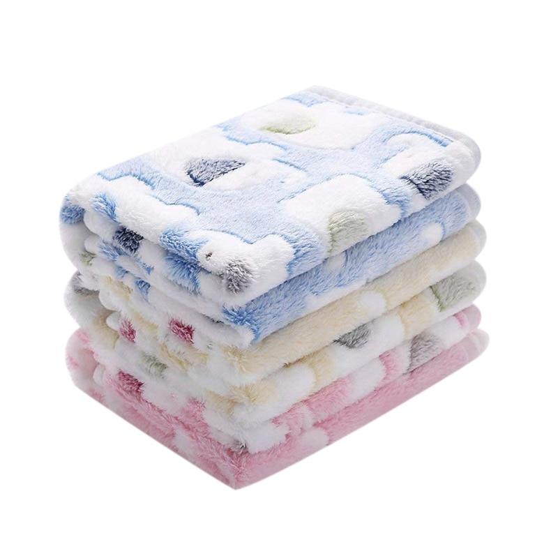 3pcs Super Soft Fluffy Premium Coral Fleece Dog Blanket